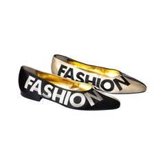 "Iconic Moschino Vintage ""Fashion"" ""Fashioff"" Shoes Size 40"