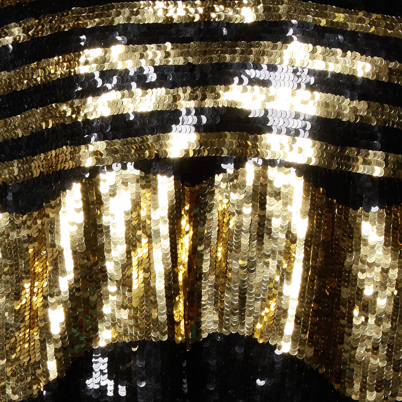 Lillie Rubin Vintage Metallic Gold + Black Sequin Silk Jacket For Sale 2