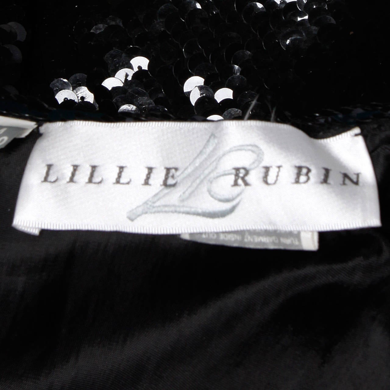 Lillie Rubin Vintage Metallic Gold + Black Sequin Silk Jacket For Sale 4