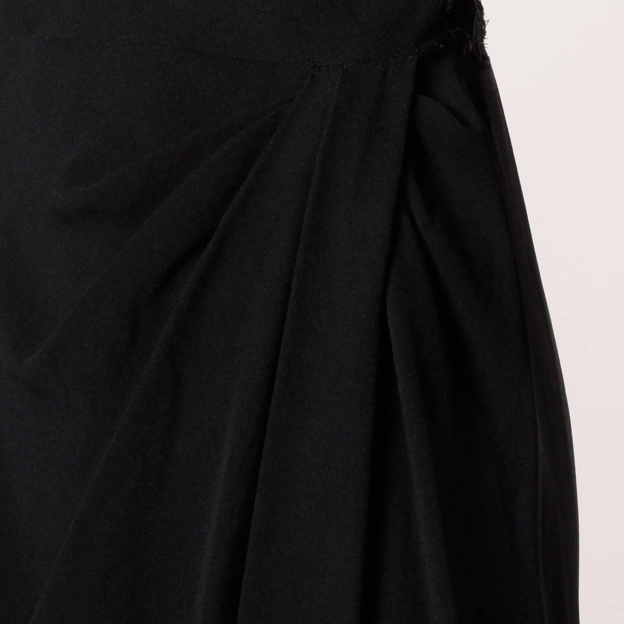 Dorothy O'Hara Vintage Black Lace Cocktail Dress, 1940s  For Sale 2