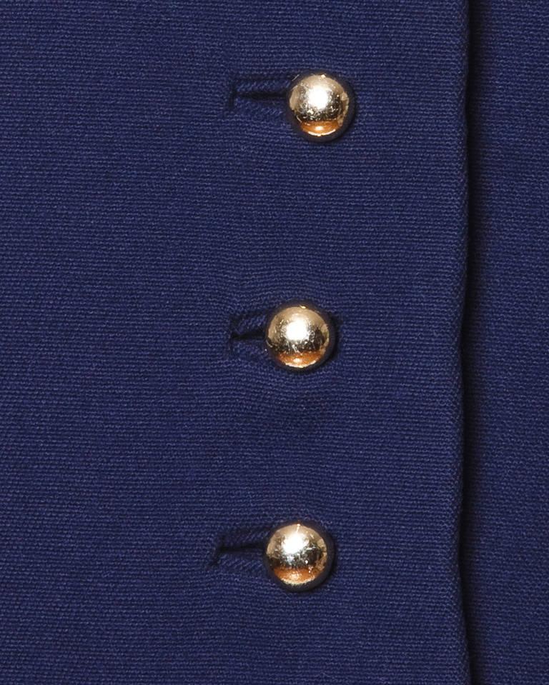 Christian Dior Pristine Vintage 1960s 60s Navy Wool Mod Military Coat 8