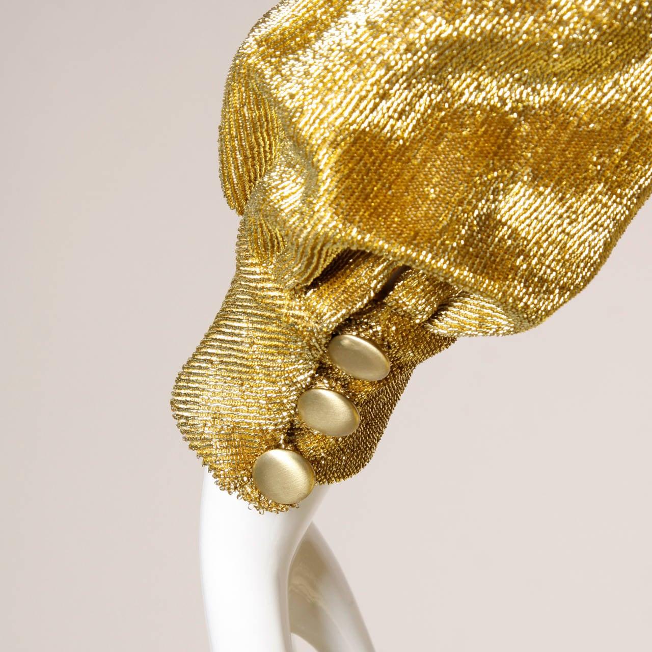Mr. Mort Vintage 1960s Metallic Gold Lurex Coat Dress For Sale 1