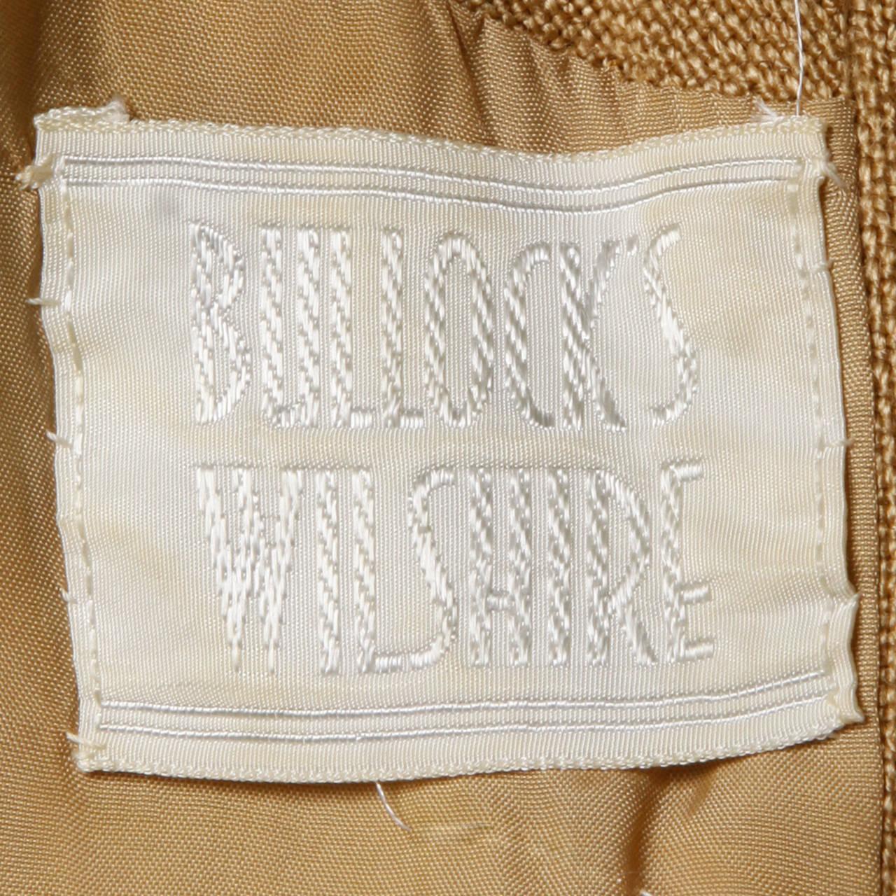 Donald Brooks 1960s Mod Vintage Camel Linen + Silk Dress with Belt For Sale 5