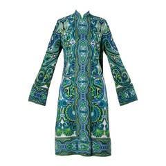 Signed Mr. Dino Vintage Op Art Print Dress