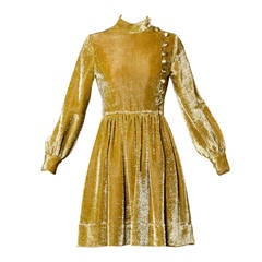 Mr. Mort Vintage 1960s Metallic Gold Lurex Coat Dress