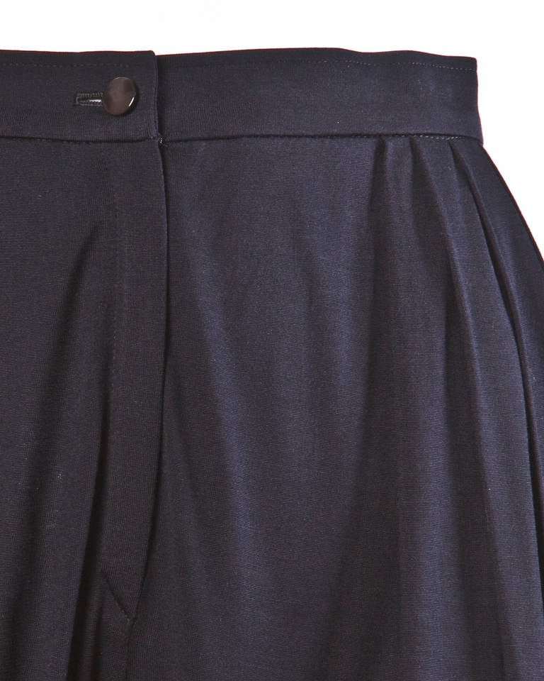 Ungaro Black Draped Vintage Harem Pants with Pleated Front 2