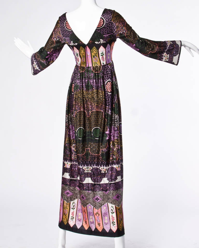 Lucie Ann of Beverly Hills Vintage 1970s 70s Maxi Dress or Dressing Gown 2