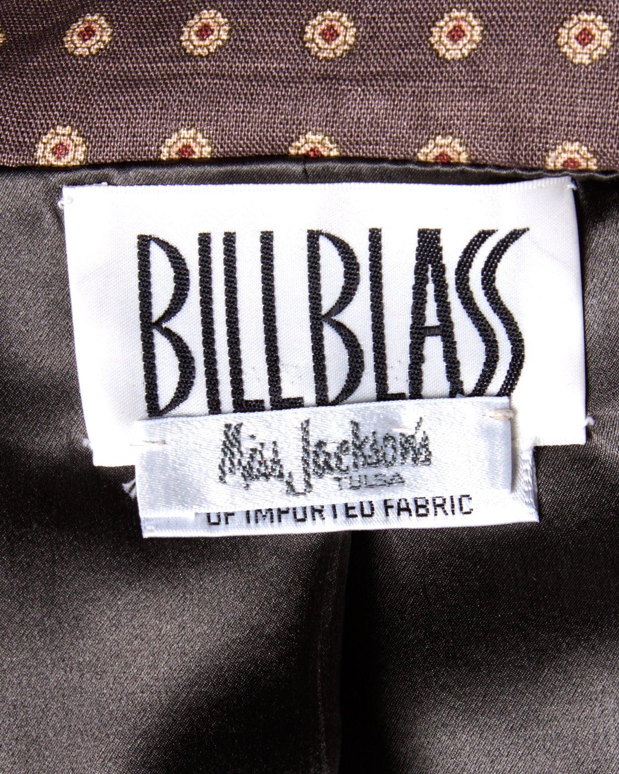 Women's Bill Blass Unworn Deadstock Vintage Wool Jacket + Skirt Suit For Sale
