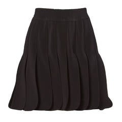 "Claude Montana Vintage Black Avant Garde Car-Wash Pleated ""Petal"" Skirt"