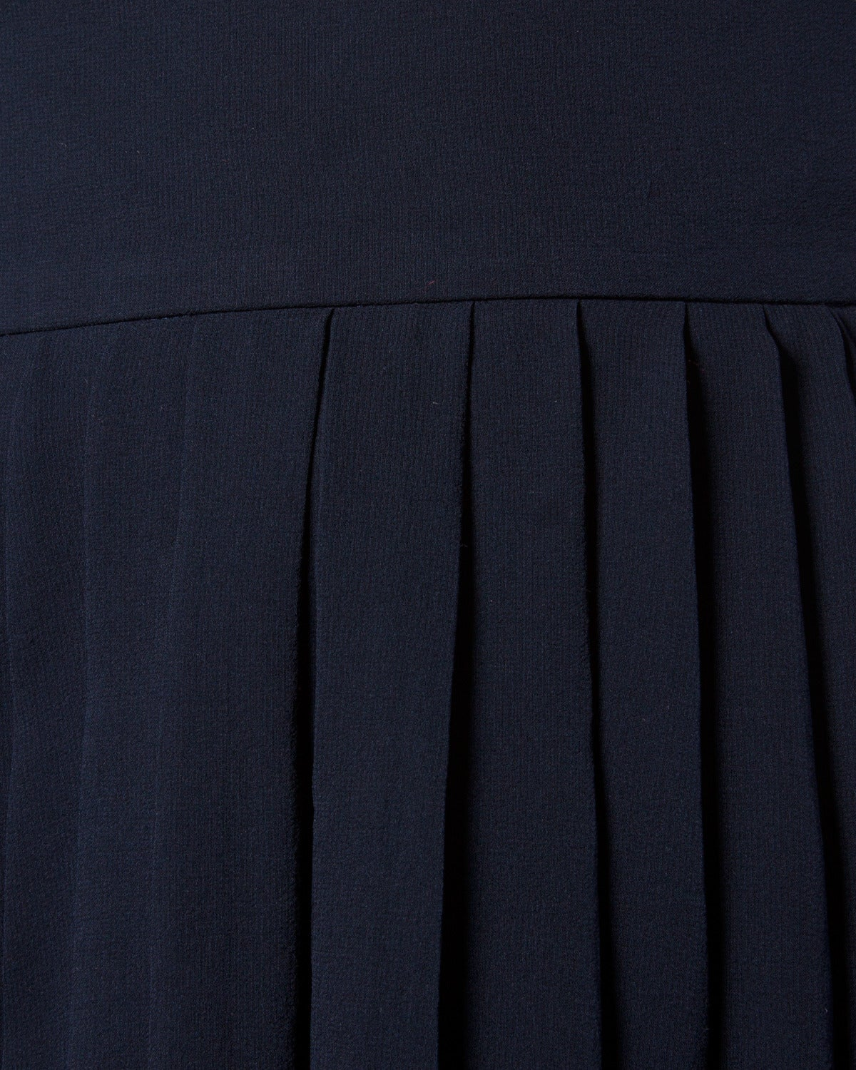 Chanel Vintage Navy Blue Pleated Silk Chiffon Skirt 4
