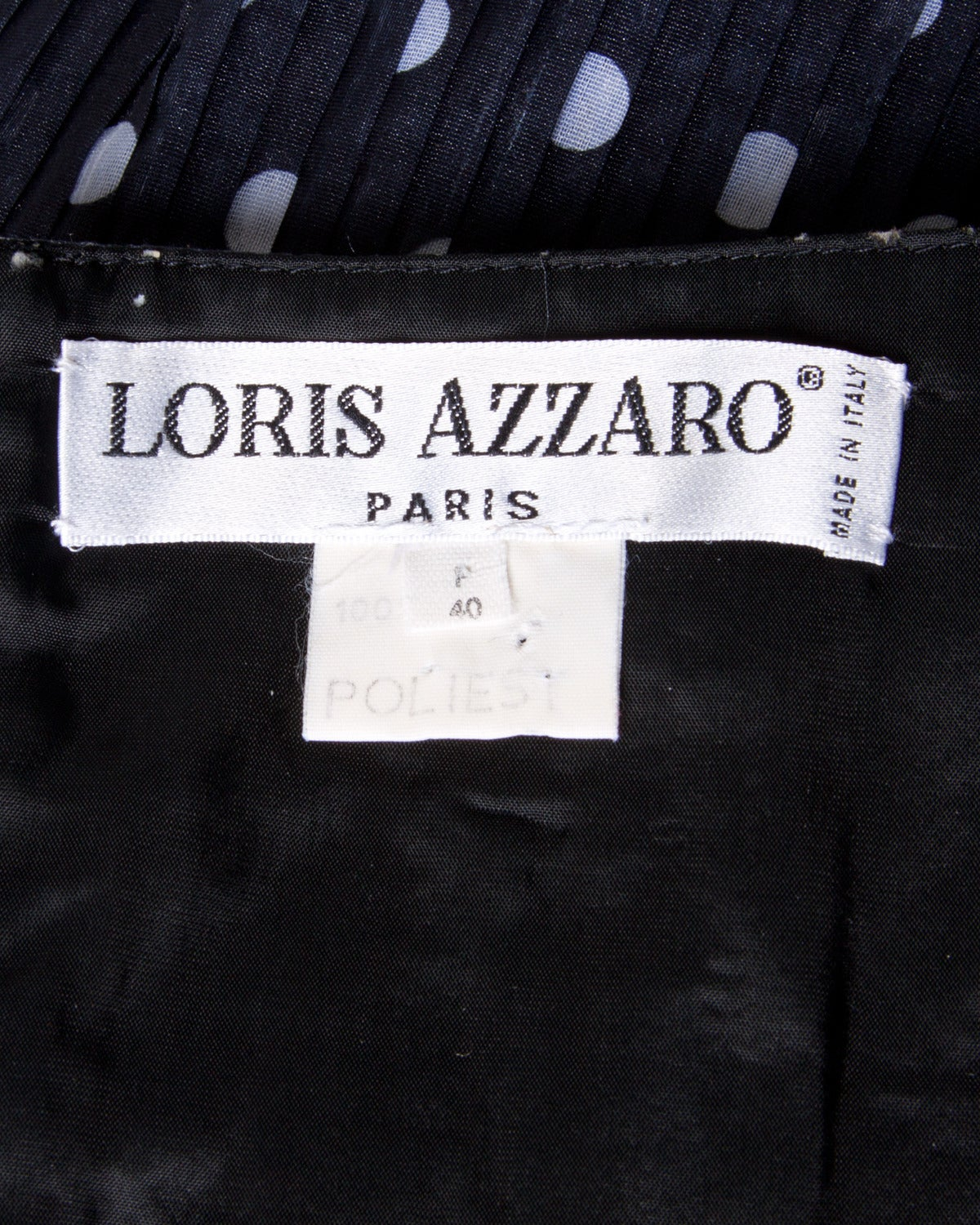 Loris Azzaro Vintage Polka Dot Bustier Top + Skirt 2-Piece Dress Ensemble In Excellent Condition For Sale In Sparks, NV