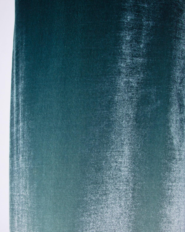 Emanuel Ungaro Plus-Size Green Ombre Silk Velvet Maxi Dress Size XL 4