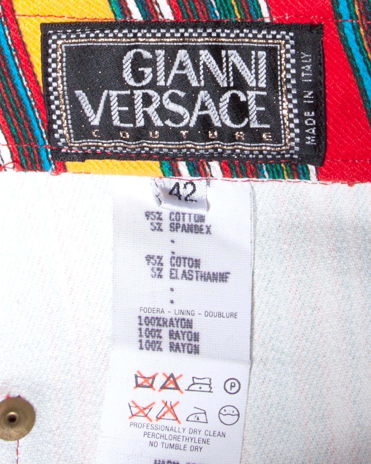 1993 Unworn Gianni Versace Couture Vintage Shorts as Worn by Naomi Campbell 6