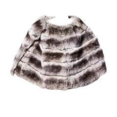 Extraordinary Vintage Chinchilla Fur Stole, Cape or Wrap