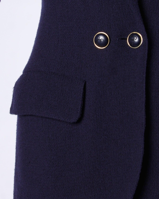 Sonia Rykiel Vintage 1990s 90s Navy Blue Wool Boyfriend Blazer Jacket 7