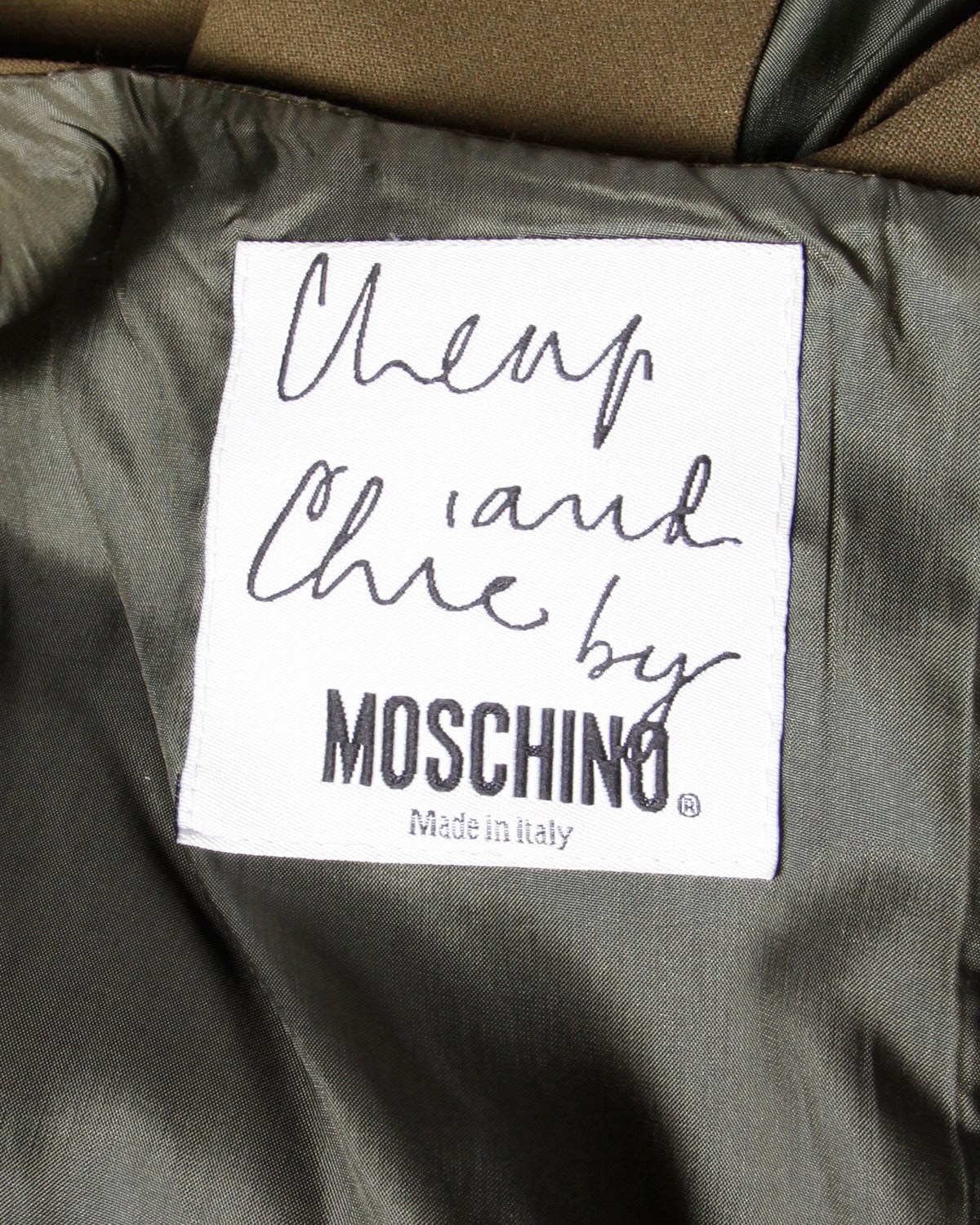 Women's Moschino Vintage 1990s 90s Minimalist Olive Green Maxi Dress For Sale