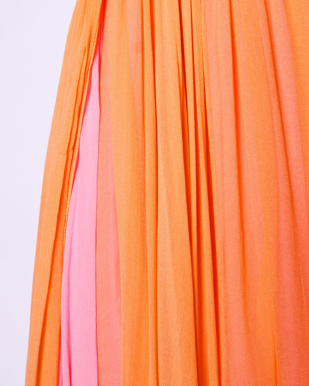 Victoria Royal Ltd. Vintage 1960s 60s Sequin + Beaded Silk Chiffon Maxi Dress 6