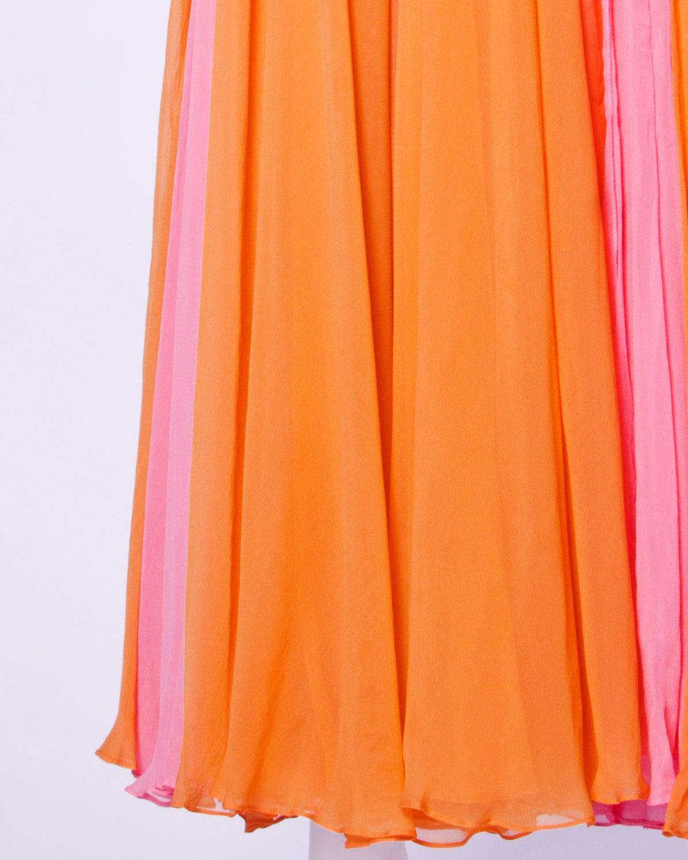 Victoria Royal Ltd. Vintage 1960s 60s Sequin + Beaded Silk Chiffon Maxi Dress 7