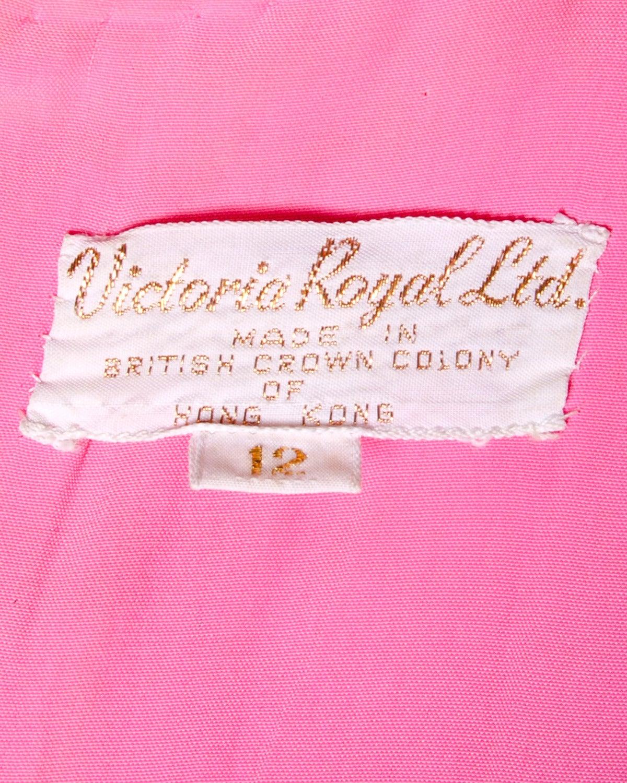 Victoria Royal Ltd. Vintage 1960s 60s Sequin + Beaded Silk Chiffon Maxi Dress 8