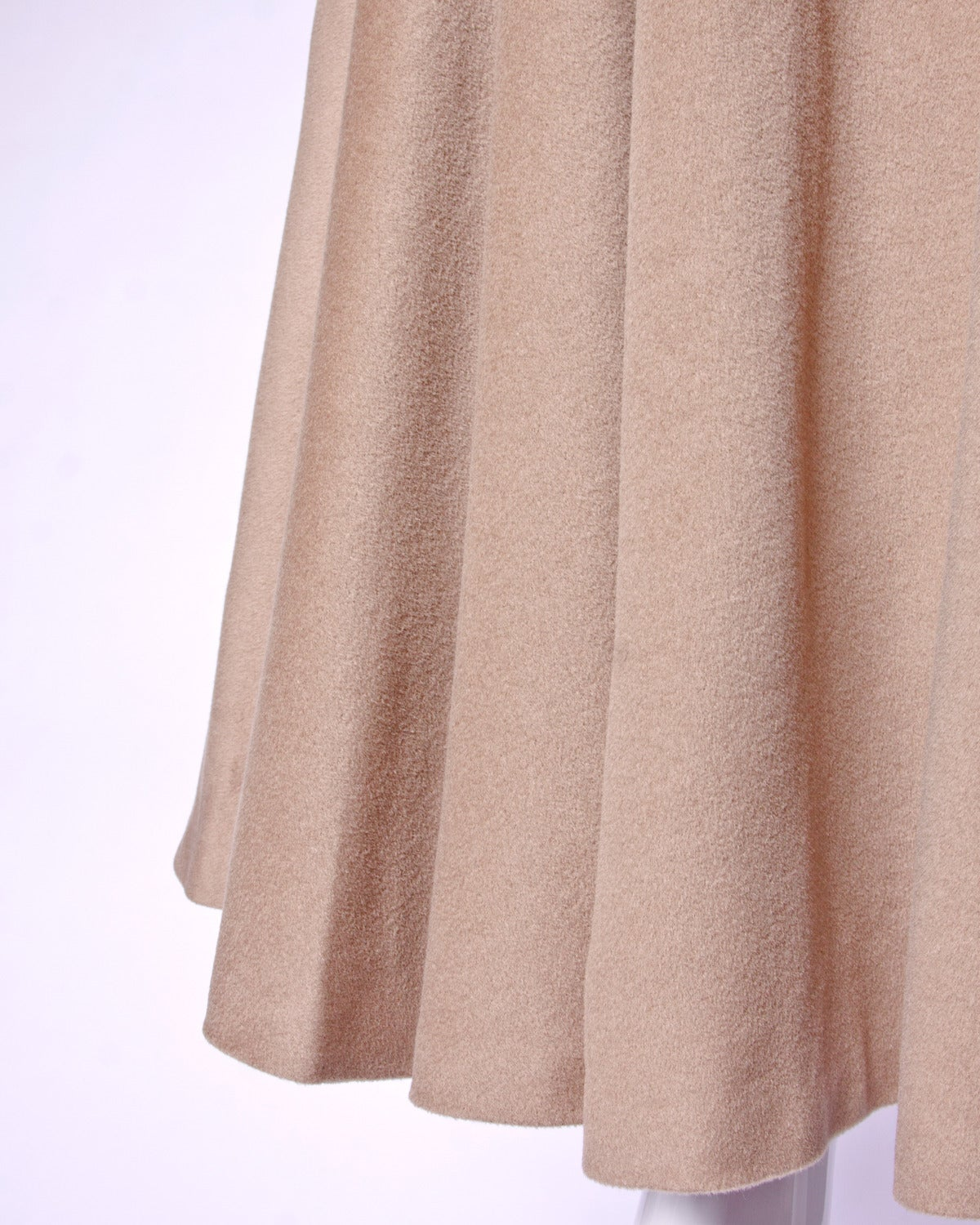 Moschino Couture! Vintage 1990s 90s Beige Wool Cape Coat 6