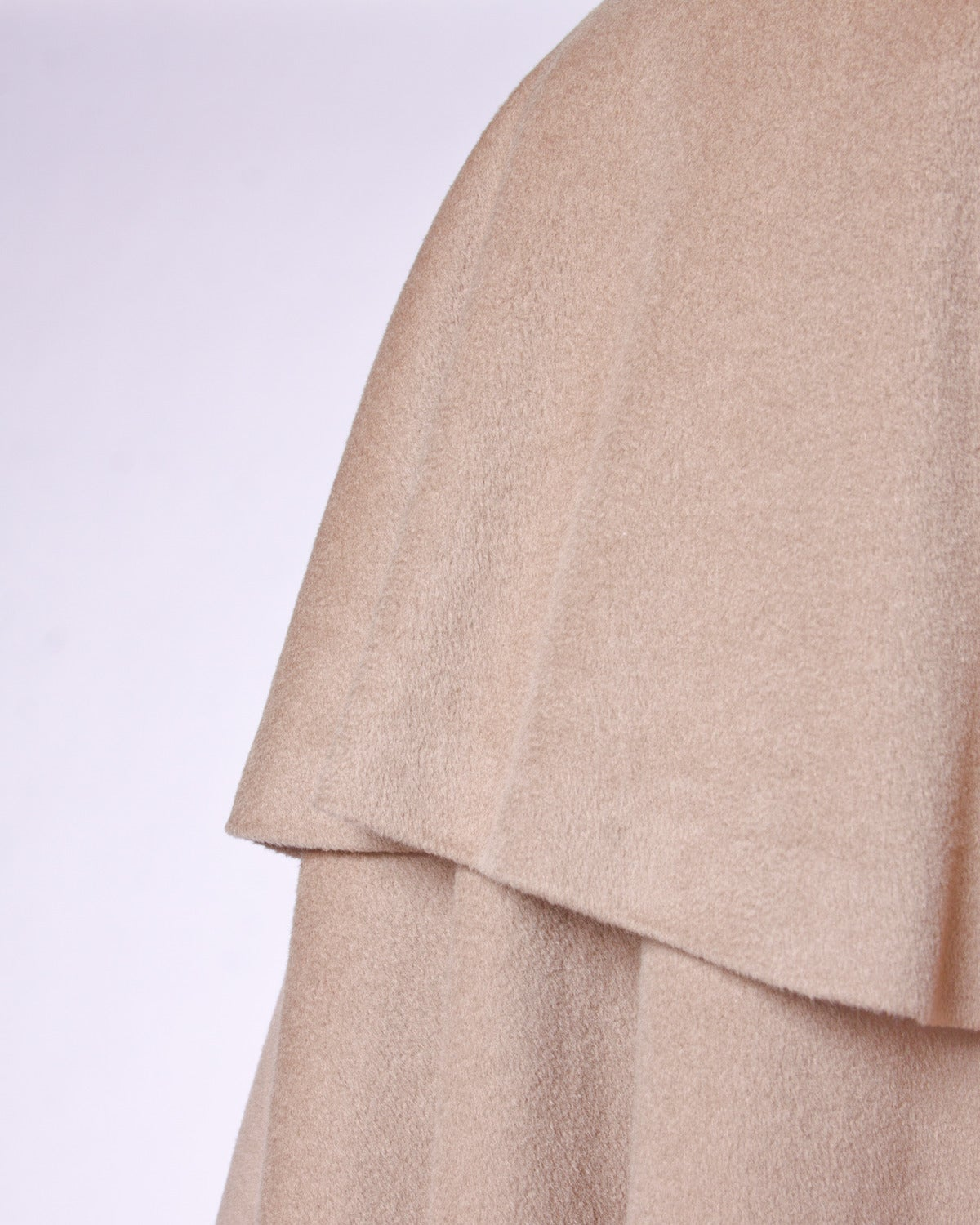 Moschino Couture! Vintage 1990s 90s Beige Wool Cape Coat 7