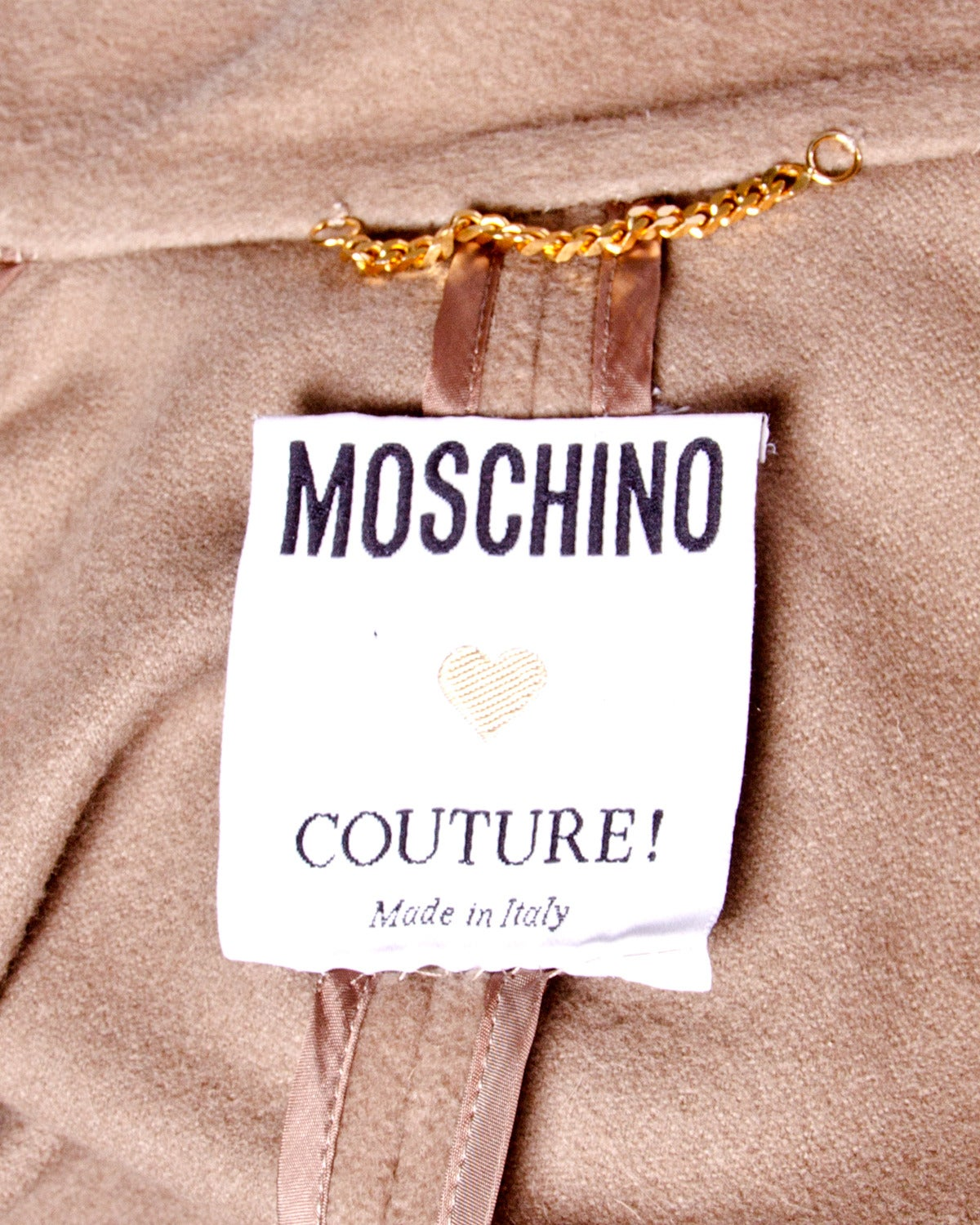 Moschino Couture! Vintage 1990s 90s Beige Wool Cape Coat 8