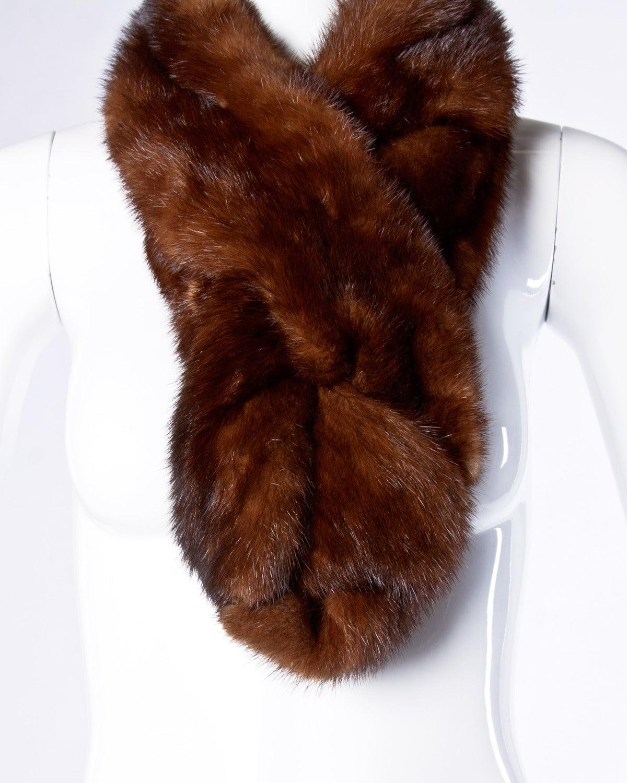 Vintage mink fur shoulder wrap or stole at 1stdibs - Stoel fur ...