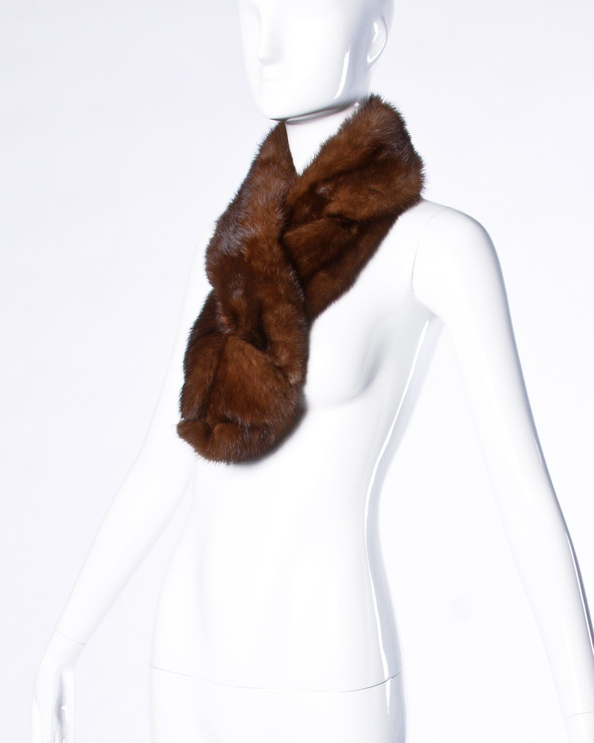 Vintage Mink Fur Shoulder Wrap or Stole 6