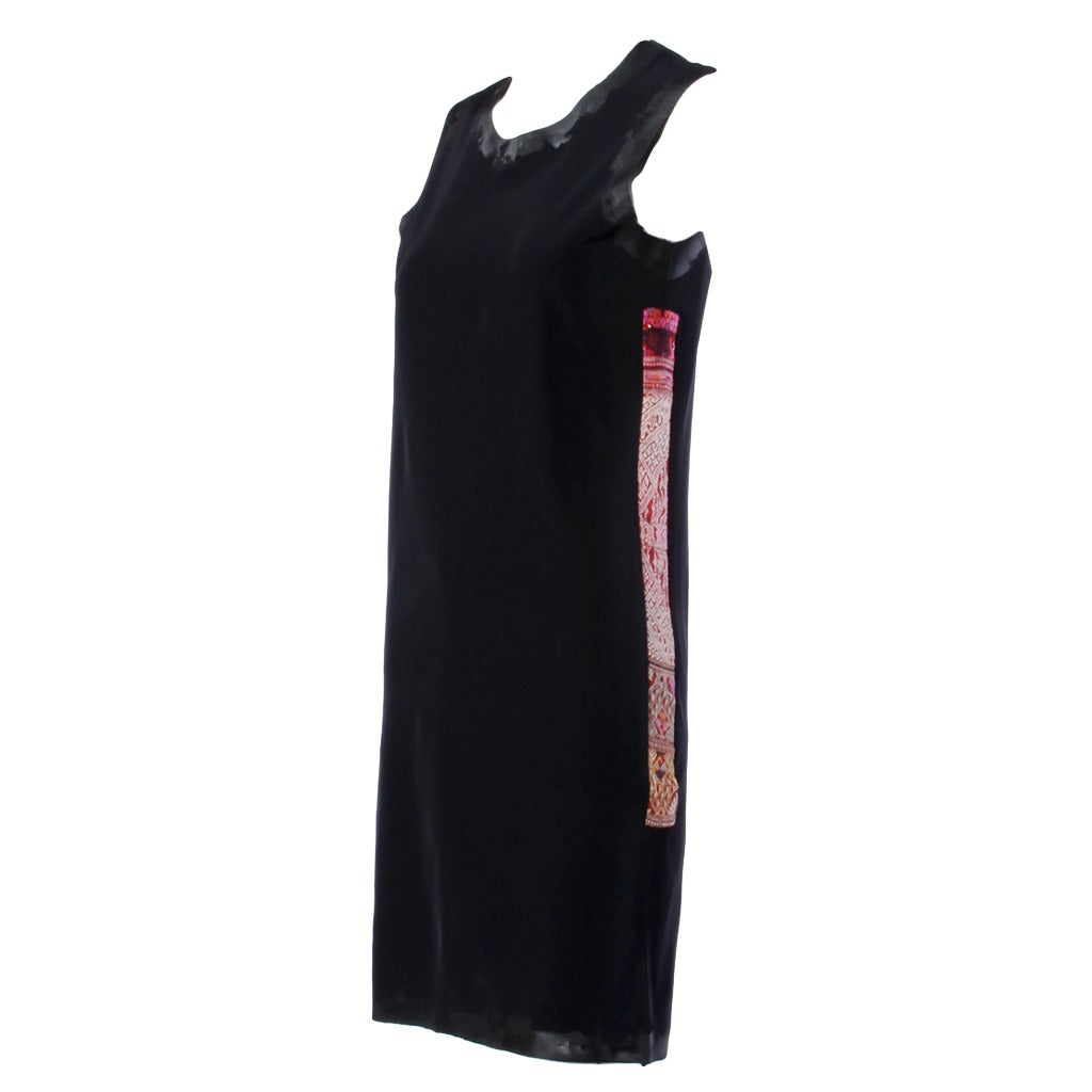 Comme des Garcons Vintage Black Avant Garde Patchwork Shift Dress