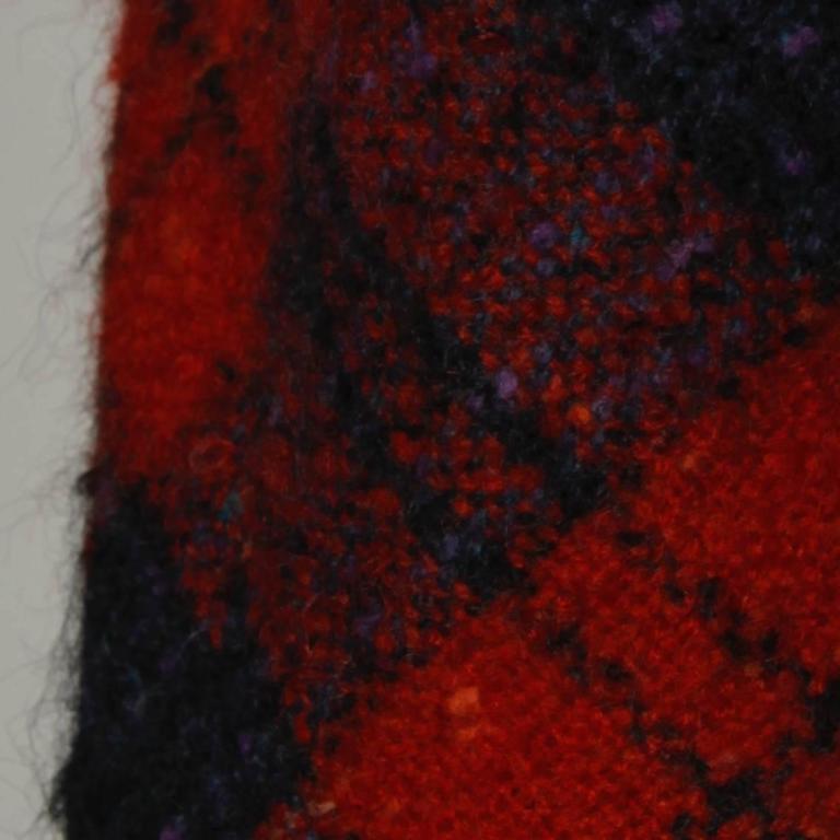 Sarmi 1960s Vintage Red Plaid Coat For Sale 4