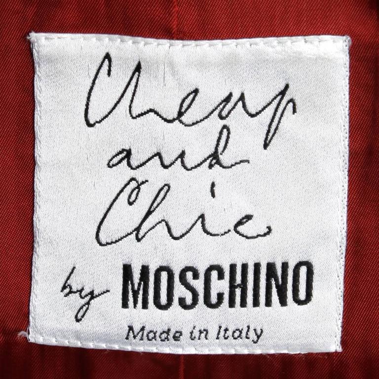 Women's Moschino Vintage Black + White Wool Plaid Blazer Jacket For Sale