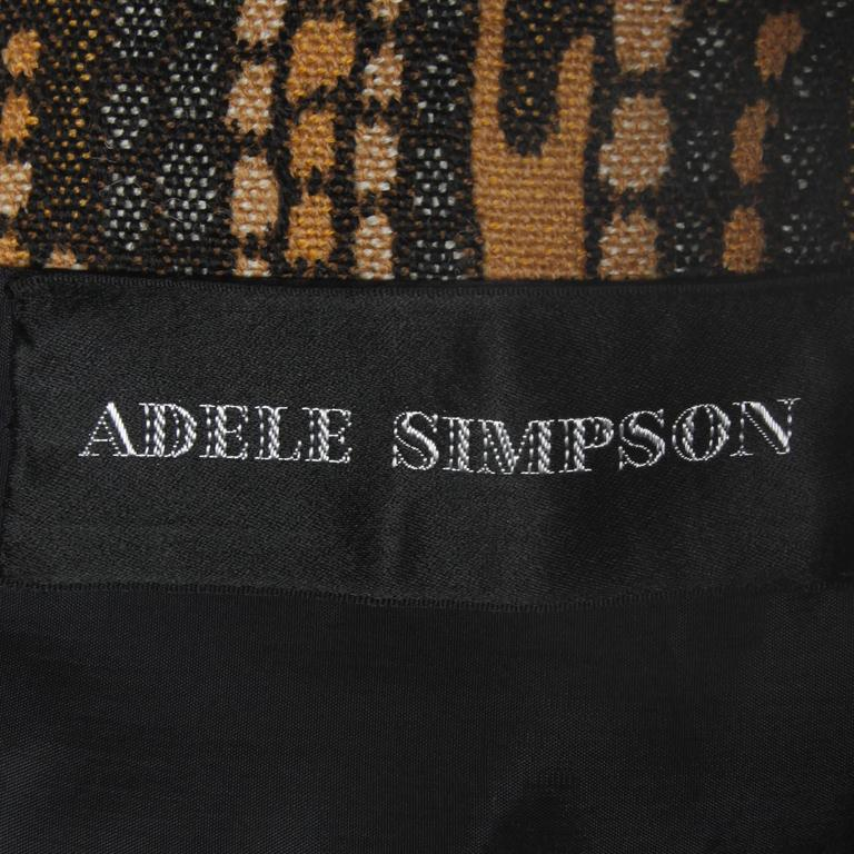 Adele Simpson 1960s Vintage Woven Wool Shift Dress or Vest In Excellent Condition For Sale In Sparks, NV