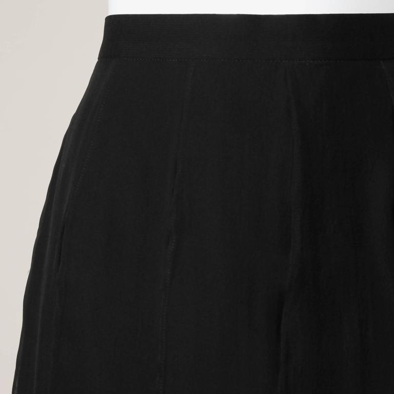 Karl Lagerfeld Vintage Black Skirt with Sheer Mesh Overlay For Sale 3