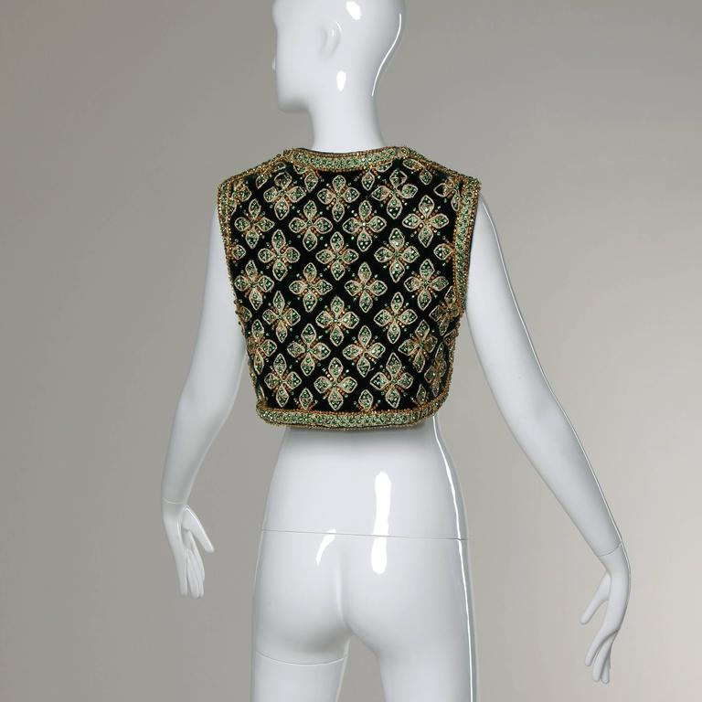 Larry Aldrich by Marie McCarthy Vintage 1960s Embellished Vest or Waistcoat 3