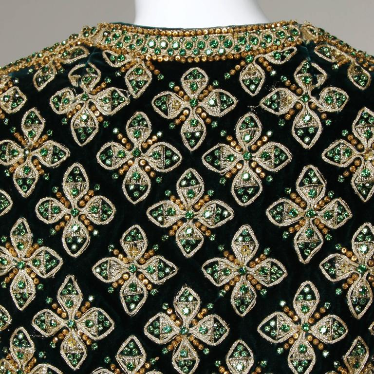 Matador-inspired vintage 1960s rhinestone, sequin and beaded vest by Marie McCarthy for Larry Aldrich. Beautiful detailing and mint condition.