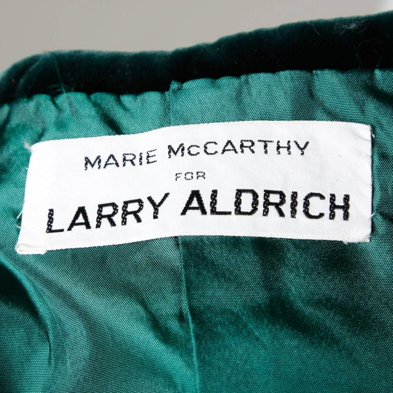 Larry Aldrich by Marie McCarthy Vintage 1960s Embellished Vest or Waistcoat In Excellent Condition For Sale In Sparks, NV