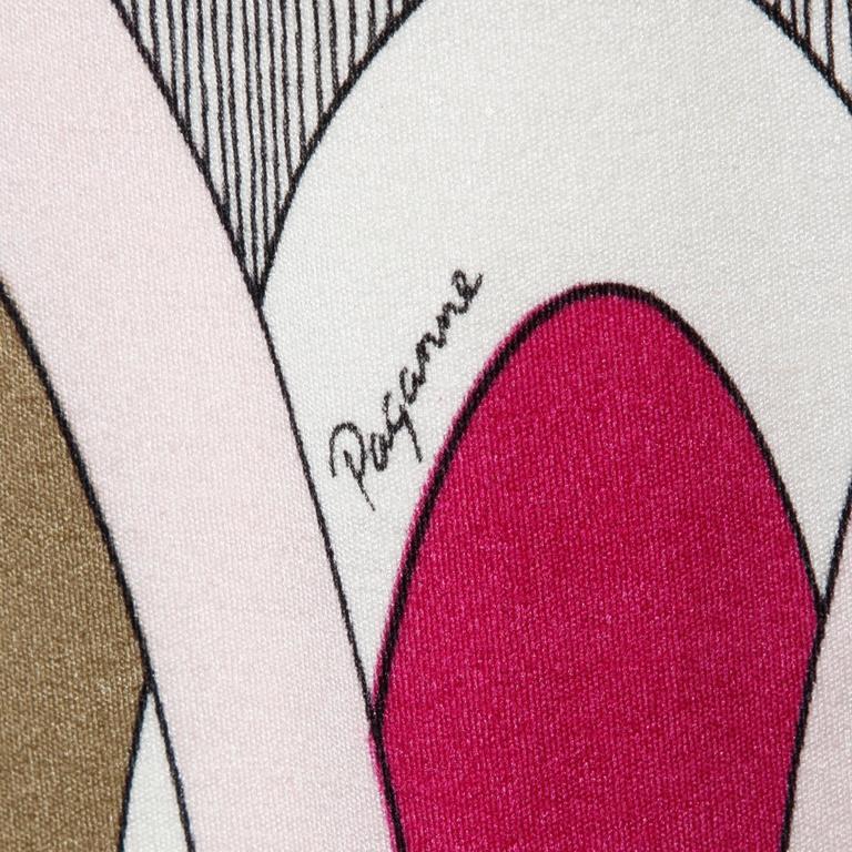 1970s Signed Paganne by Gene Berk Vintage Op Art Graphic Mod Print Dress 7