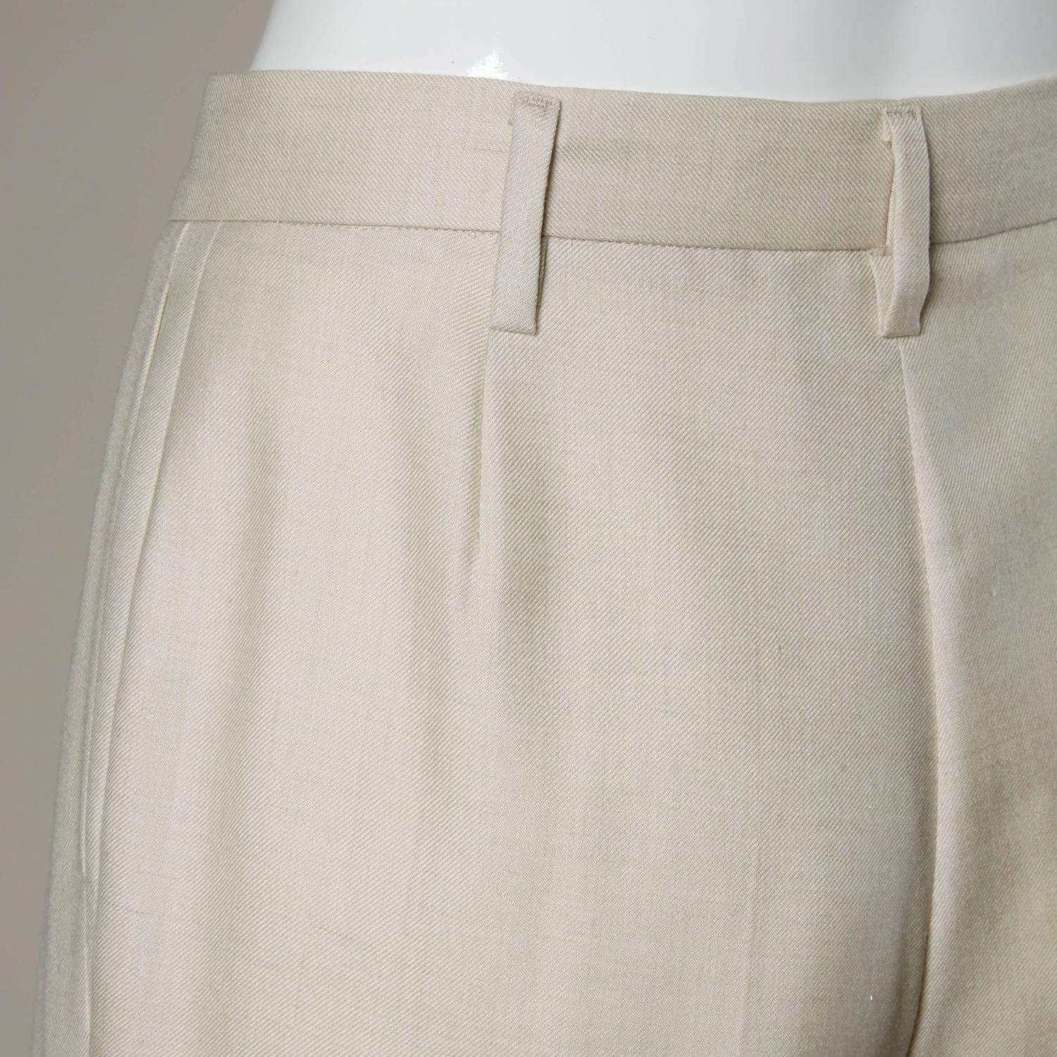 Jil Sander Wool Trousers or Pants in a Size 34 For Sale at ...