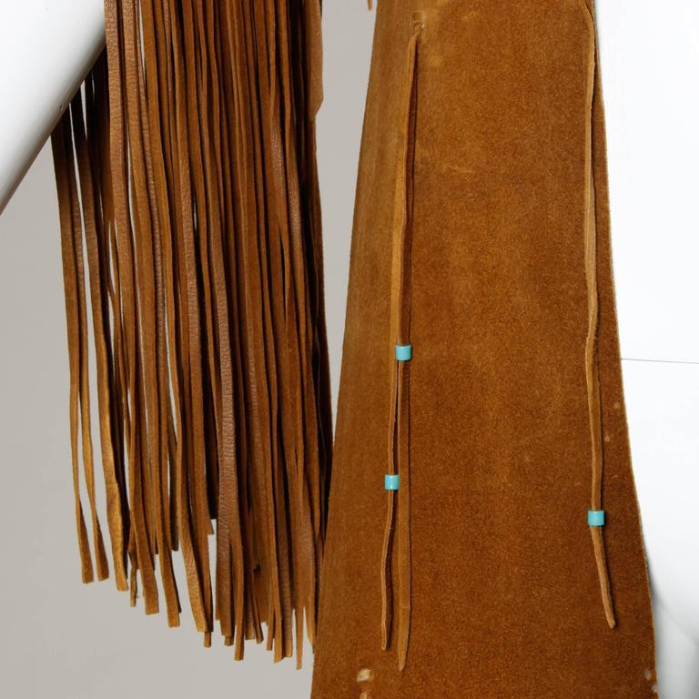Rare Traditionally Hand-Crafted Vintage Native American Buckskin Fringe Coat 2
