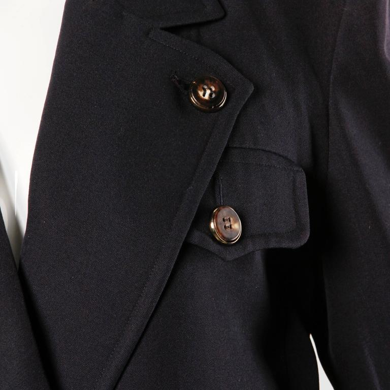 Yves Saint Laurent Rive Gauche Vintage Wool Boyfriend Blazer Jacket For Sale 2