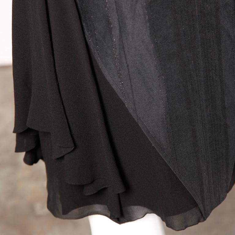 Martine Sitbon Silk and Wool Avant Garde Skirt For Sale 1