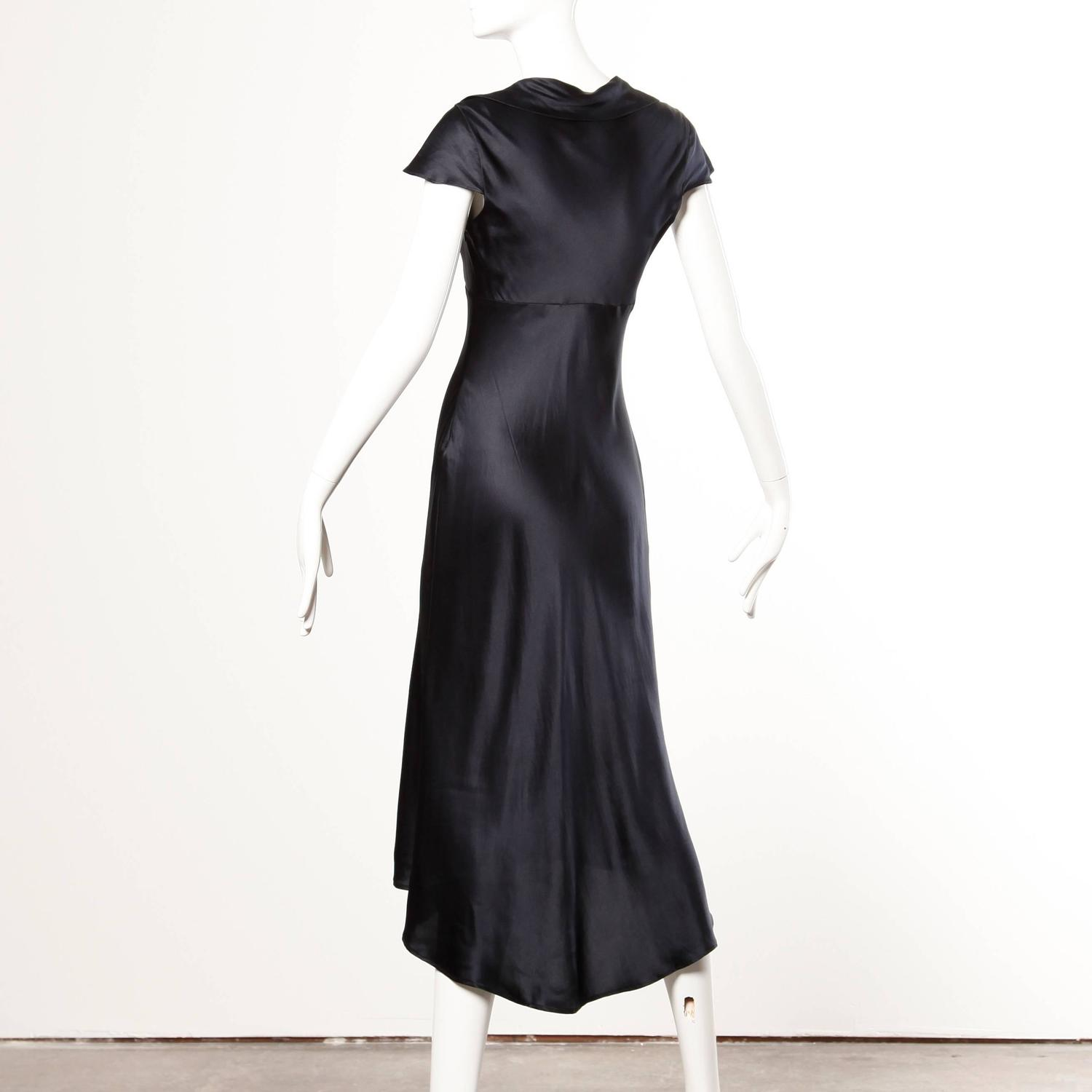Moschino Couture Cruise Me Baby Elegant Navy Blue Silk Dress For Sale At 1stdibs