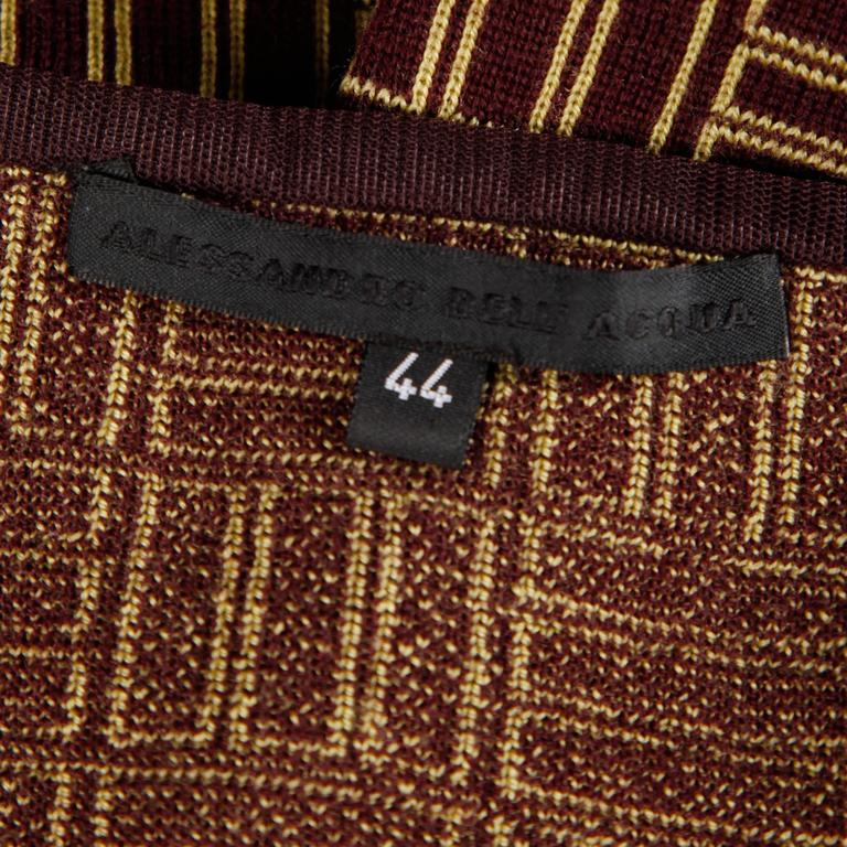 Vintage geometric knit skirt by Alessandro Dell'Acqua in Merino wool.