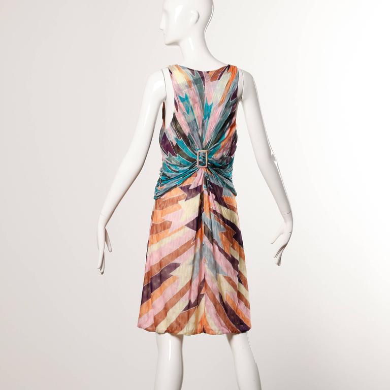 Missoni Color Block Zig Zag Knit Dress For Sale At 1stdibs
