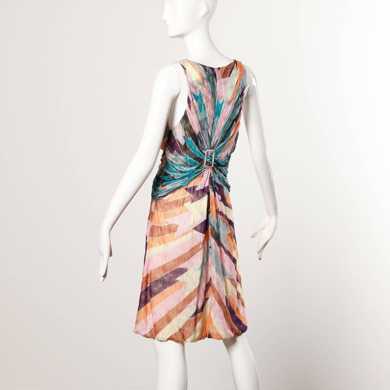 Missoni Color Block Zig Zag Knit Dress In Excellent Condition For Sale In Sparks, NV