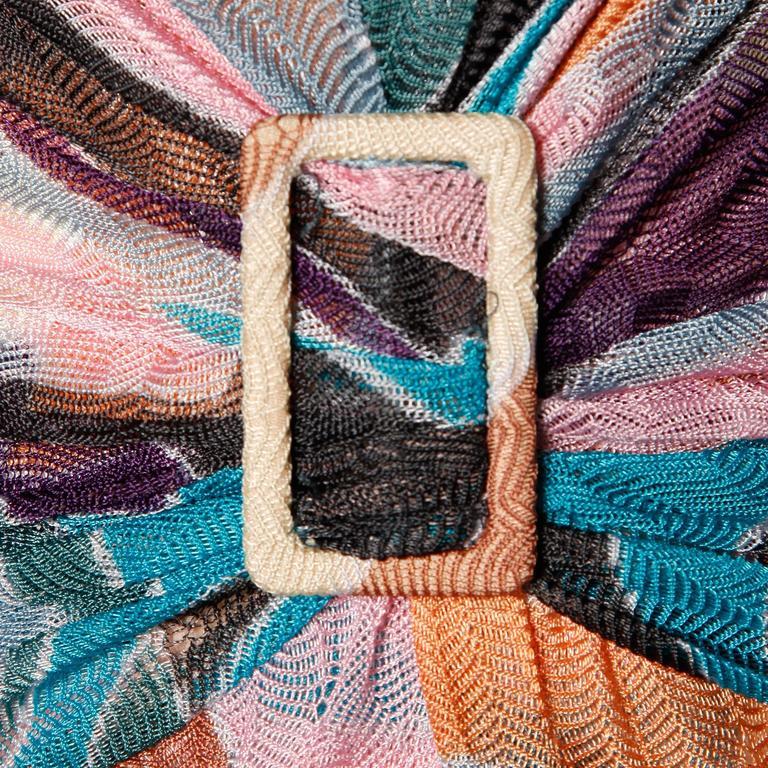 Women's Missoni Color Block Zig Zag Knit Dress For Sale