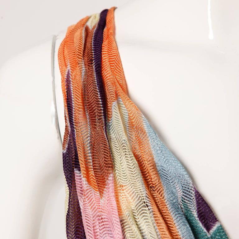 Missoni Color Block Zig Zag Knit Dress For Sale 3