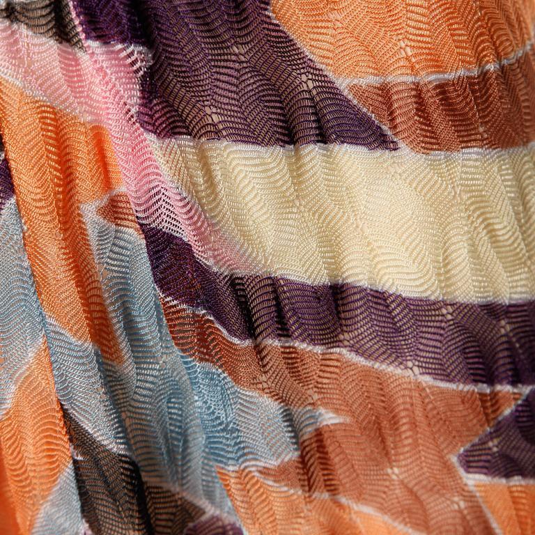Missoni Color Block Zig Zag Knit Dress For Sale 2