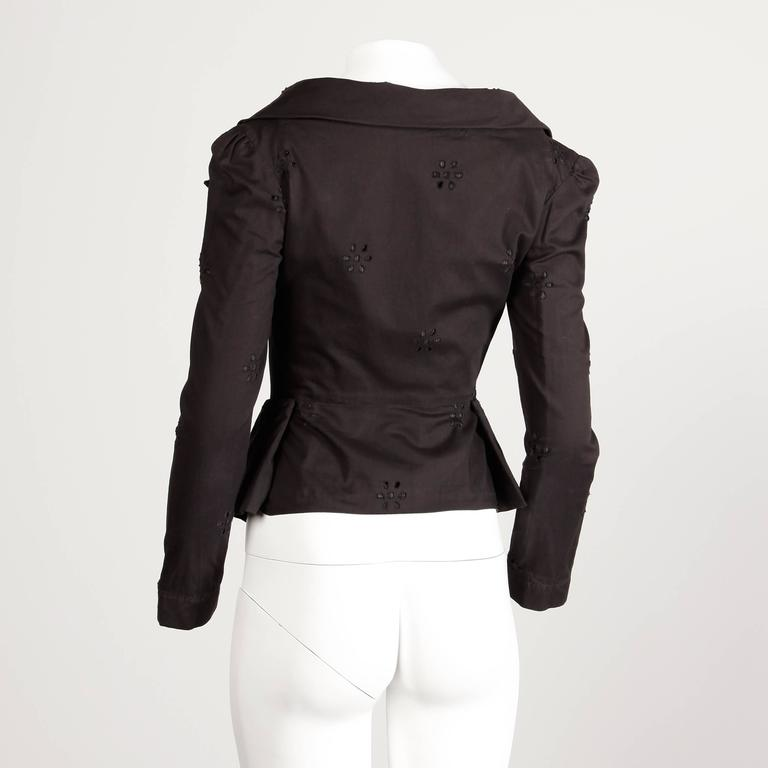 Women's Unworn Vivienne Westwood Anglomania Black Eyelet Jacket with Original Tags For Sale