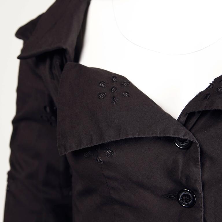 Unworn Vivienne Westwood Anglomania Black Eyelet Jacket with Original Tags For Sale 2